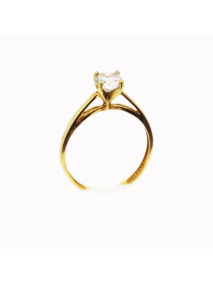 Solitaire stone 18k ring
